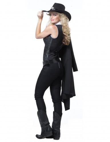 Luxe sheriff kostuum voor dames-1