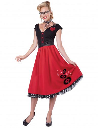 Retro Rock 'n Roll kostuum voor vrouwen