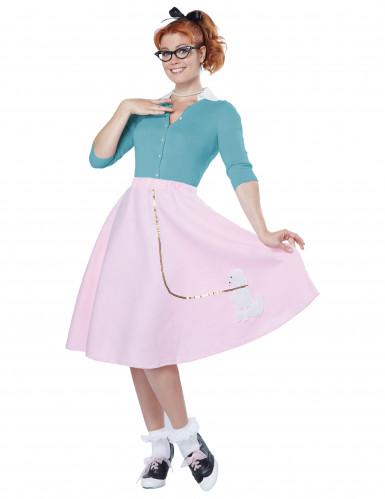 Roze 50's rok voor vrouwen