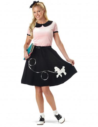 Zwart 50's outfit voor vrouwen