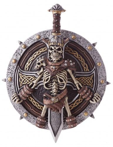 Luxe skelet viking schild en zwaard