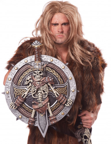 Luxe skelet viking schild en zwaard-1