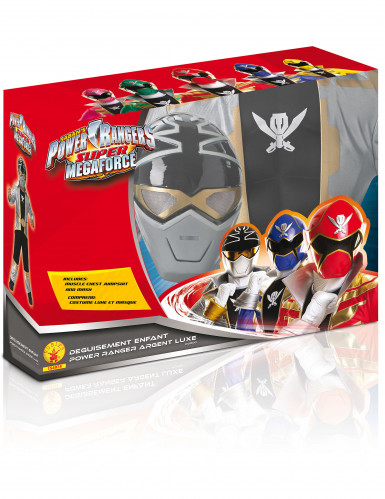 Zilverkleurig Power Rangers™ kostuum voor kinderen -1