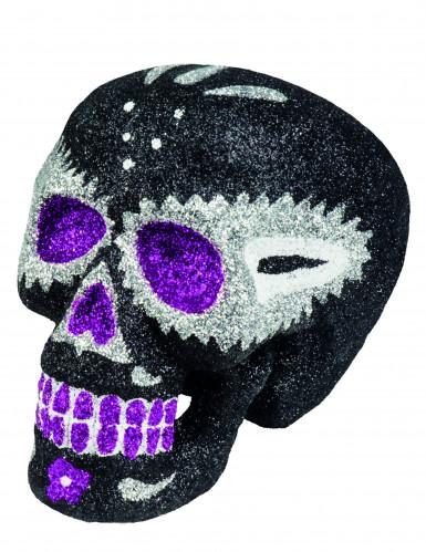 Sugar skull zwart (16 x 13 cm)