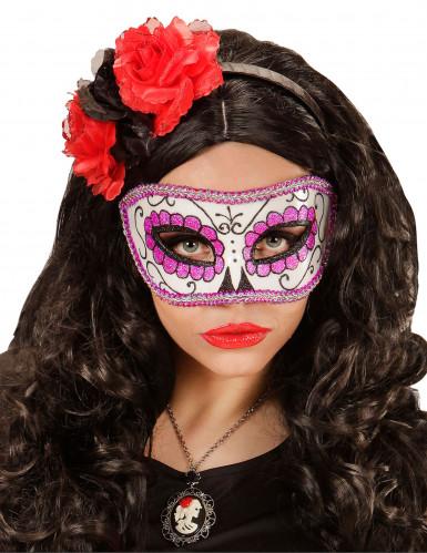 Paars glittermasker voor volwassenen