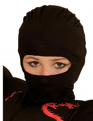 Zwarte ninja kap voor kinderen
