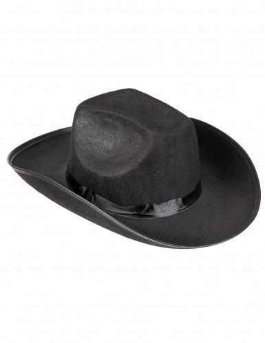 Zwart cowboy hoed volwassenen