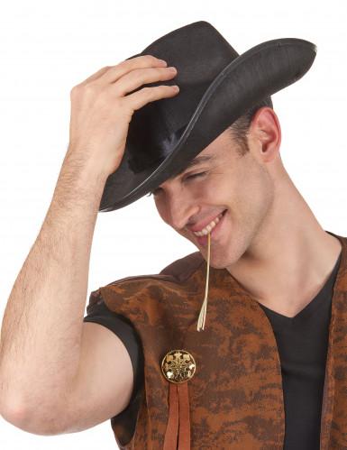 Zwart cowboy hoed volwassenen -1