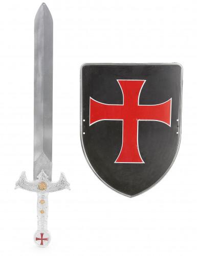 Kruisridder schild en zwaard voor kinderen