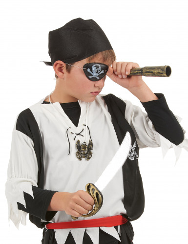 Piratenset - Sabel, verrekijker, bandana, insignia en ooglapje voor kinderen-1