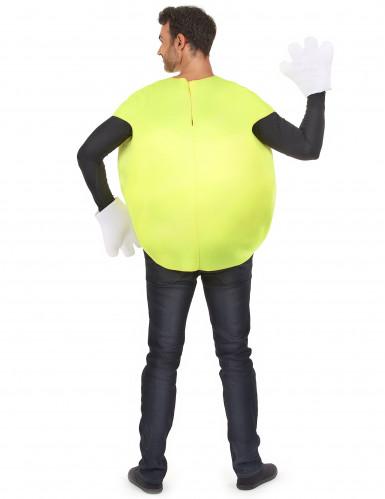 Geel snoepje kostuum voor volwassenen-2