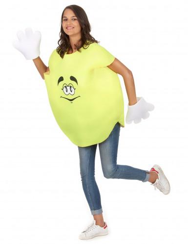Geel snoepje kostuum voor volwassenen-4
