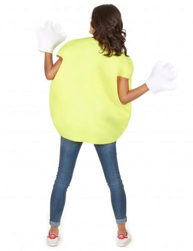 Geel snoepje kostuum voor volwassenen-5