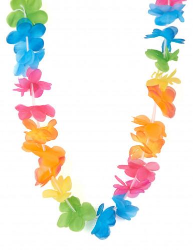 Veelkleurig bloemenketting Hawaï