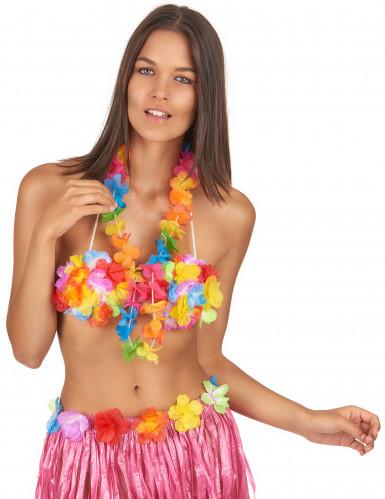 Veelkleurig bloemenketting Hawaï -1