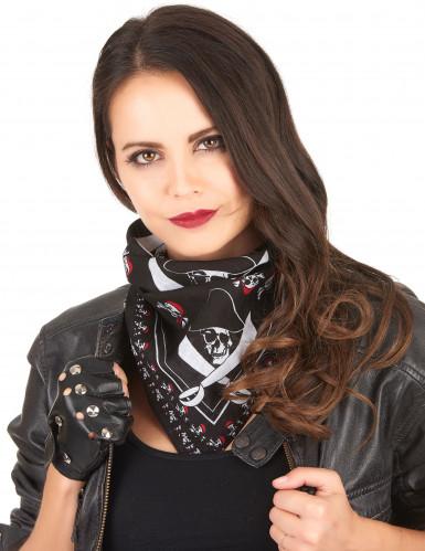Piraten doodshoofden hoofddoek voor volwassenen-2