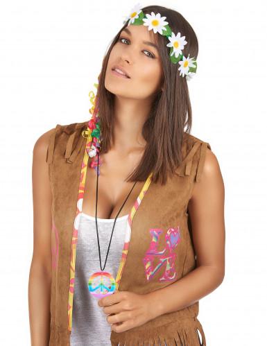 Veelkleurig hippie halsketting voor volwassenen -1