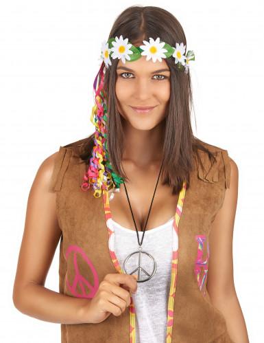 Zilverkleurige hippie ketting-1