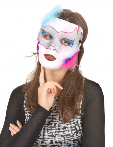 Wit glimmend masker voor volwassenen-1