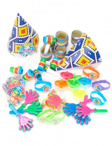 Veelkleurig feestpakket 6 kinderen