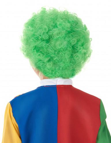 Groene clownspruik voor kinderen-1