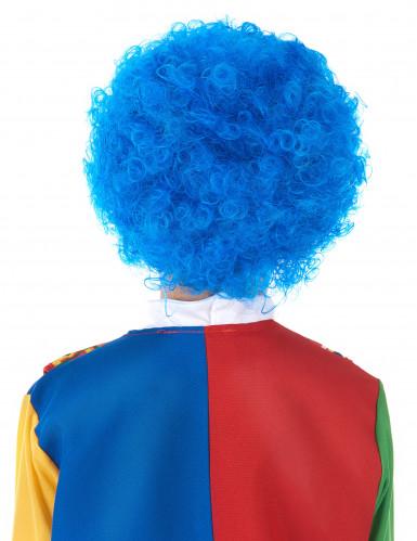 Blauwe clown pruik voor kinderen-1