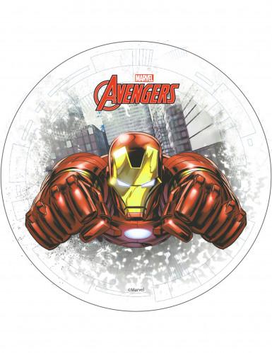 Eetbare taartdecoratie Iron Man Avengers�