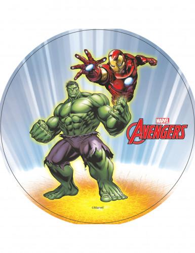 Eetbare The Hulk en Iron Man Avengers schijf
