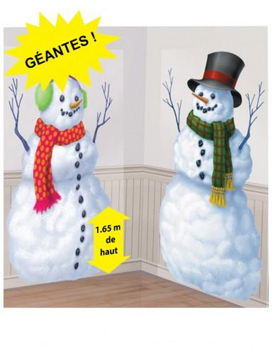 2 muurdecoraties Sneeuwpopen