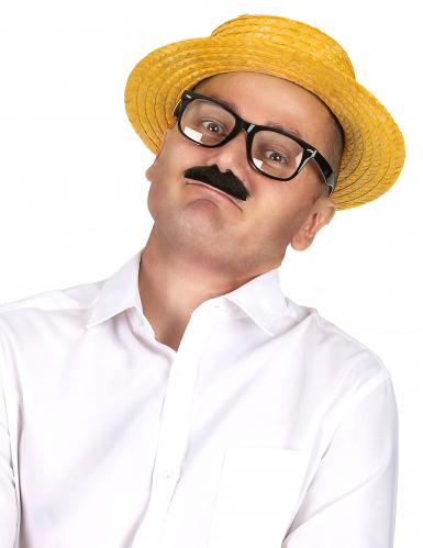 Stro hoed oranje-1
