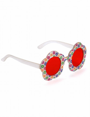 Bloemen hippie bril