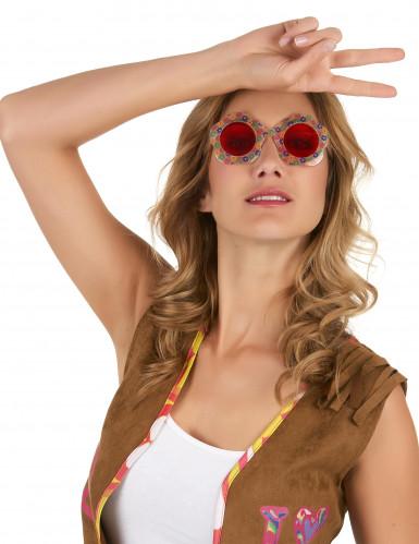 Bloemen hippie bril-1