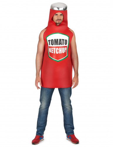 Tomaten ketchup kostuum voor volwassenen