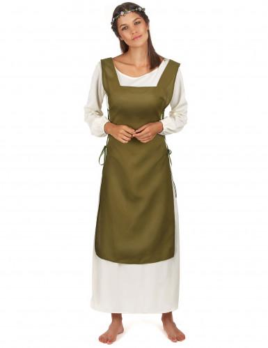 Middeleeuwse boerinnenkostuum voor vrouwen