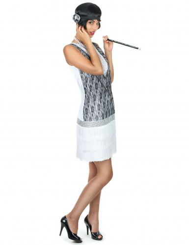 Wit charleston kostuum voor vrouwen-1