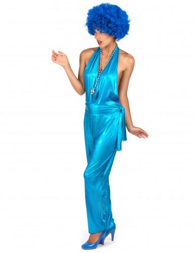 Blauw eendelig disco kostuum voor vrouwen-1
