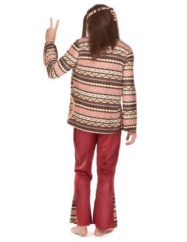 Bordeaux rood hippie kostuum voor mannen-1