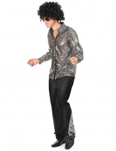 Zilver discokostuum voor mannen-1