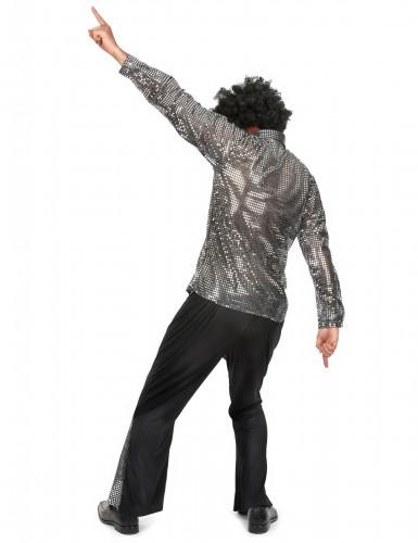 Zilver discokostuum voor mannen-2