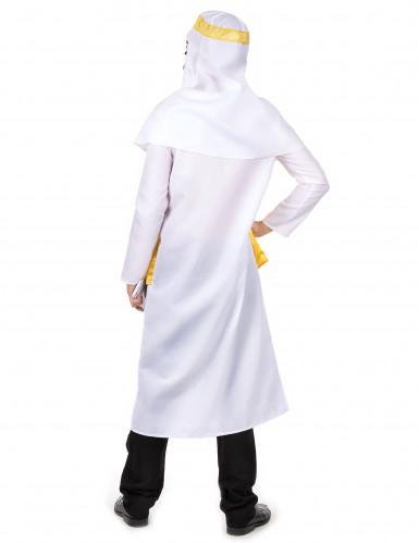 Arabische sjeik kostuum wit en geel voor mannen-2