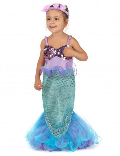Glinstrend zeemeermin kostuum voor meisjes-1