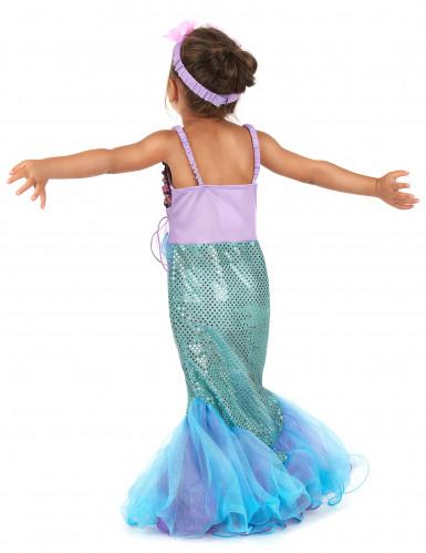 Glinstrend zeemeermin kostuum voor meisjes-2