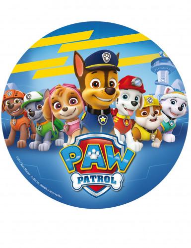 Blauwe eetbare Paw Patrol™ taartversiering