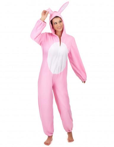 Roze konijnen kostuum voor vrouwen