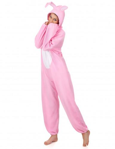 Roze konijnen kostuum voor vrouwen-1