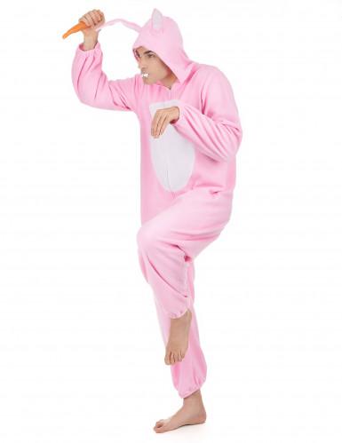 Roze konijnen kostuum voor mannen-1