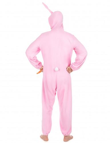 Roze konijnen kostuum voor mannen-2