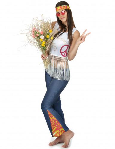 Flower Power hippie retro kostuum voor dames