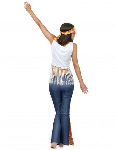 Flower Power hippie retro kostuum voor dames-2