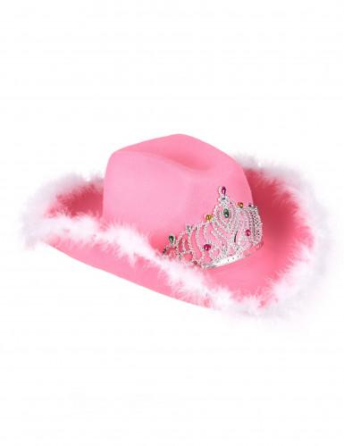 Roze cowboy hoed voor vrouwen